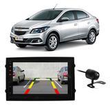 """Central Multimídia Chevrolet Prisma 2012 a 2019 First Option 7830 7"""" MP5 USB Bluetooth Espelhamento Android SD FM AUX + Câmera de Ré - Gold"""