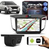 Central Multimídia Creta PCD 10 Pol Shutt Espelhamento USB e WiFi Android IOS BT GPS + Câmera de Ré
