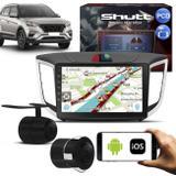 Central Multimídia Creta PCD 10 Polegadas Shutt Espelhamento Via USB e WiFi Android IOS + Câmera Ré