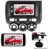 Central Multimídia Dvd Honda Fit 04/12 + Moldura + Camera - Multi marcas