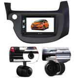 Central Multimidia Dvd Honda Fit + Moldura 2 Din + Camera - Multi marcas