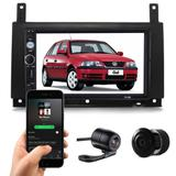 Central Multimidia Dvd Vw Gol Parati G3 + Moldura + Brinde - Multi marcas