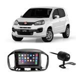 Central Multimídia Fiat Uno 2015 a 2017 7 Polegadas MP5 USB Bluetooth Espelhamento iOS Android + Câmera de Ré - Gold