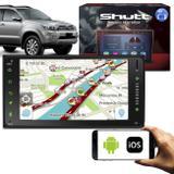 Central Multimídia Hilux 06 a 11 7 Polegadas Shutt Espelhamento Via USB e WiFi Android IOS BT GPS