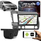 Central Multimídia Honda Civic 07 a 11 9 Pol Espelhamento Via USB e WiFi Android IOS BT GPS + Câmera - Shutt