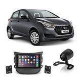 Central Multimídia Hyundai HB20 2012 a 2019 7 Polegadas MP5 USB Bluetooth Espelhamento iOS Android + Câmera de Ré - Gold