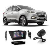 Central Multimídia Hyundai ix35 2010 a 2019 7 Polegadas MP5 USB Bluetooth Espelhamento iOS Android + Câmera de Ré - Gold