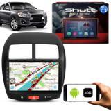 Central Multimídia Mitsubishi ASX 10 Pol Shutt Espelhamento Via USB e WiFi Android IOS Bluetooth GPS