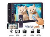 Central Multimídia MP5 2DIN Espelhamento Celular Bluetooth Câmera Ré Rádio USB SD 7-Cores - M2m