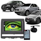 Central Multimídia Mp5 Palio Strada Siena 05 à 11 D720BT Moldura 2 Din Cinza Usb Bluetooth Câmera Ré - Exbom