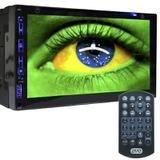 Central Multimídia Mp5 Player Automotivo Com Android Carro 2 din Bluetooth FM SD AUX USB GPS DVD MPCC-D760BT - Exbom