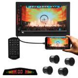 "Central Multimídia Multilaser Evolve Link 7"" Bluetooth Espelhamento Android iOS GPS TV + Sensor Ré - Prime"