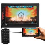 """Central Multimídia Multilaser Evolve Link GP338 7"""" Bluetooth Espelhamento Android iOS GPS TV USB MP3"""