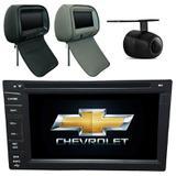 Central Multimidia Onix LT 2012 13 14 15 16 17 18 + 2 encostos + GPS TV  Camera Usb Sd BT Espelhamento - X3automotive