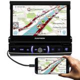Central Multimídia Positron SP6520 Link 1 Din 7 Pol Bluetooth Touch USB SD AUX RCA MP3 WMA TV AM FM