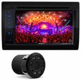 "Central Multimídia Pósitron SP8530 6.2"" Espelhamento Bluetooth USB CD DVD MP3 + Cam Ré Mini Colorida - Kit som e vídeo"