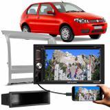 "Central Multimídia Shutt Dakota 6.2"" Bluetooth Mp3 SD + Moldura Palio Idea Siena Strada 2008 a 2011"