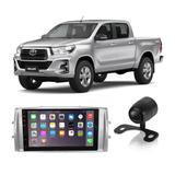 Central Multimídia Toyota Hilux 2012 a 2019 7 Polegadas MP5 USB Bluetooth Espelhamento iOS Android + Câmera de Ré - Gold