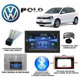 Central Multimídia Volkswagen Polo Bluetooth + Moldura + Câm - Roadrover