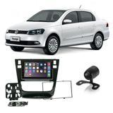 Central Multimídia Volkswagen Voyage G6 2012 a 2016 7 Polegadas MP5 USB Bluetooth Espelhamento iOS Android - Gold