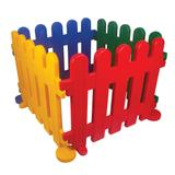 Cercadinho Infantil Alpha Brinquedos 4 Módulos Colorido