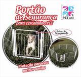 Cercado Cães Canil Pet Cão Cachorro 5/90cm + Portão - Pet util