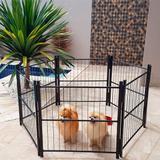 Cercado Casinha Cachorro Pet Filhotes Cão 6/80cm Com Portão Preto - Utilaço