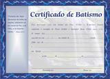 Certificado de Batismo Azul - -