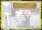 Certificado de Batismo Dourado - -