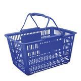 Cesta grande prática para compras, mercado, supermercado, plástica com alça azul - Paramount