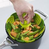 Cesto de cozimento a vapor em nylon para verduras legumes peixes e frutos do mar para panela - Gimp