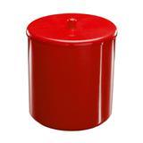 Cesto Plástico Multiúso com Tampa Diamante Astra - Vermelho / 6.0 Lt