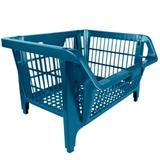 Cesto Prático Expositor Plástico Azul 42500 Presto