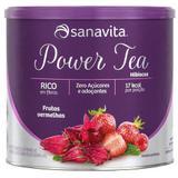 Chá de Hibisco Power Tea Sanavita - Sabor Frutas Vermelhas - 200g