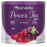 Chá de Hibisco Power Tea Sanavita Sabor Uva - 200g