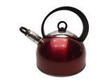 Chaleira em Aço Inox com Apito Removível Hércules Mundial - Vermelho / 2.0 Lt