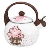 Chaleira Esmaltada Cupcake Enamel 2,2 Litros - 10008 Decorcasa - Casa ambiente