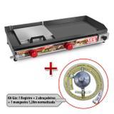 Chapa Para Lanche A Gás Sanduicheira 30x70cm Lcg + Kit Gás - Lcg eletro