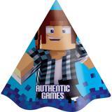Chapéu de Aniversário Authentic Games 08 unidades Festcolor - Festabox