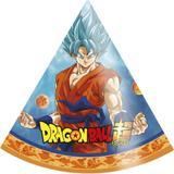 Chapéu de Aniversário Dragon Ball Super 08 unidades Festcolor - Festabox