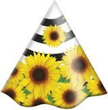 Chapéu de Aniversário Festa Girassol 08 unidades Festcolor - Festabox