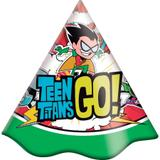 Chapéu de Aniversário Jovens Titãs 08 unidades Festcolor - Festabox