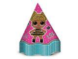 Chapéu de Aniversário LOL Surprise 08 unidades Regina Festas - Festabox