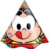 Chapéu de Aniversário Magali Melancia 08 unidades Festcolor - Festabox