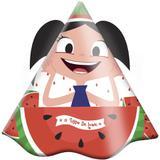 Chapéu de Aniversário Show da Luna Melancia 08 unidades Festcolor - Festabox