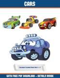 Childrens Coloring Books Ages 4 - 8 (Cars) - West suffolk cbt service ltd