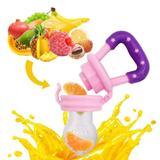 Chupeta Alimentadora Bico Silicone para Bebê Frutas Cores
