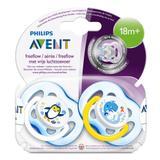 Chupeta Avent Freeflow Meninos Para 18 Meses+ Pack Duplo - Philips avent