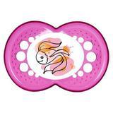 Chupeta Clear Girls 6 meses Tamanho 2 Rosa 2334 MAM