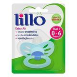 Chupeta Lillo Extra Air Silicone Ortodôntico Tamanho 1 Azul